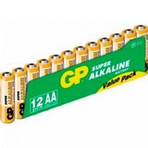 Gp-Batterier Aa Paristot 12-Pakkaus