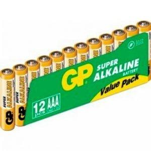 Gp-Batterier Aaa Paristot 12-Pakkaus