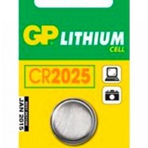 Gp-Batterier Cr2025 3v 1-Pakkaus