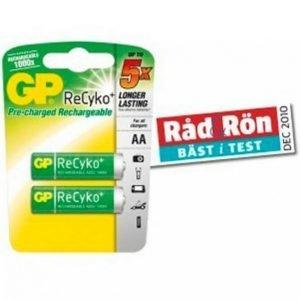 Gp-Batterier Nimh Recyko Paristot Aa / 2100 2-Pakkaus