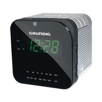 Grundig Sonoclock 590 Kelloradio Hopeinen