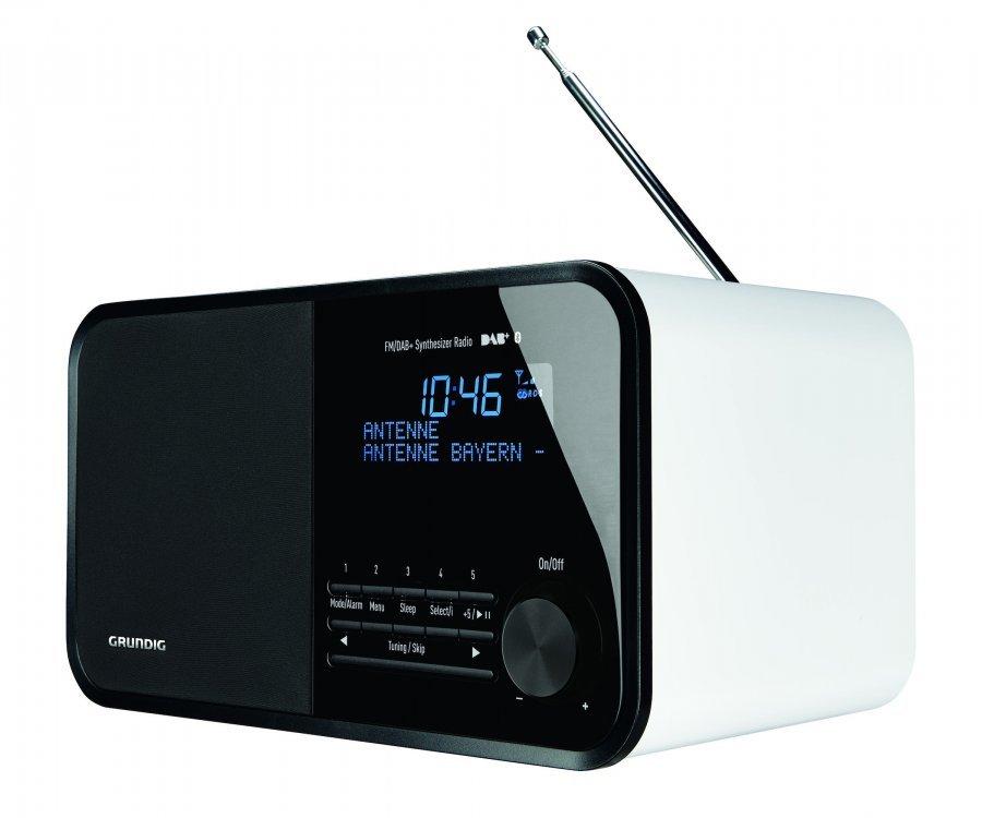 grundig tr 2500 bluetooth radio kiilt v valkoinen. Black Bedroom Furniture Sets. Home Design Ideas