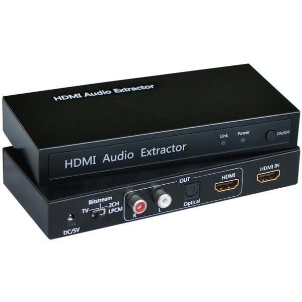 HDMI äänenmuunnin HDMI ääni - analoginen/optinen HDCP 1.2 musta
