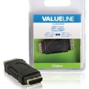 HDMI-jakaja HDMI-tulo - HDMI-tulo musta
