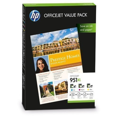 HP HewlettPackard FP HP CR712AE Value Pack No. 951XL C/M/Y +A4