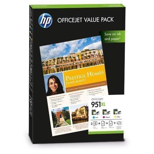 HP HewlettPackard FP HP CR712AE Value Pack No. 951XL C/M/Y +A4
