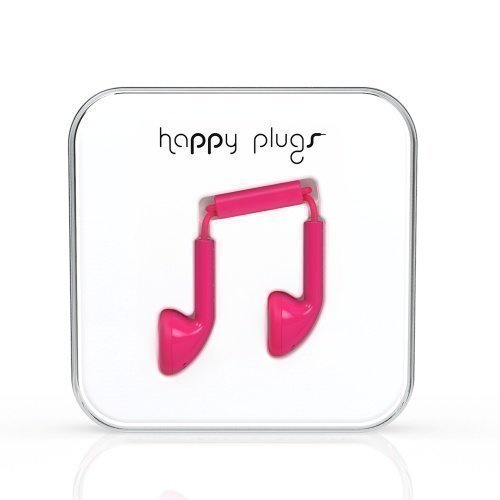 Happy Plugs Earbuds with Mic1 Cerise