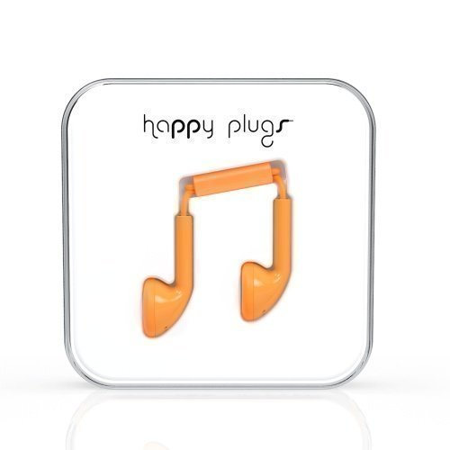 Happy Plugs Earbuds with Mic1 Orange
