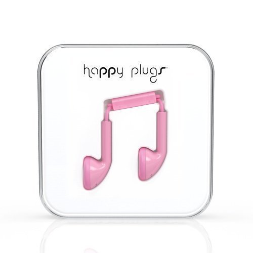 Happy Plugs Earbuds with Mic1 Pink