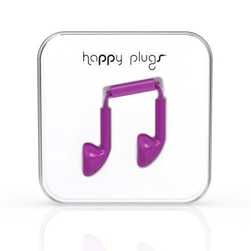 Happy Plugs Earbuds with Mic1 Purple
