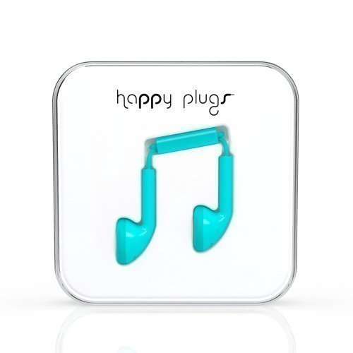 Happy Plugs Earbuds with Mic1 Turquiose