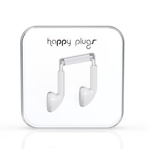 Happy Plugs Earbuds with Mic1 White