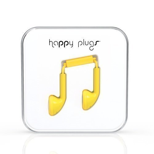 Happy Plugs Earbuds with Mic1 Yellow