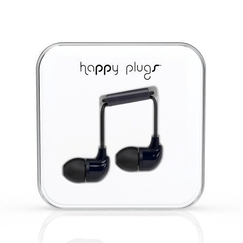 Happy Plugs In-Ear with Mic1 Black