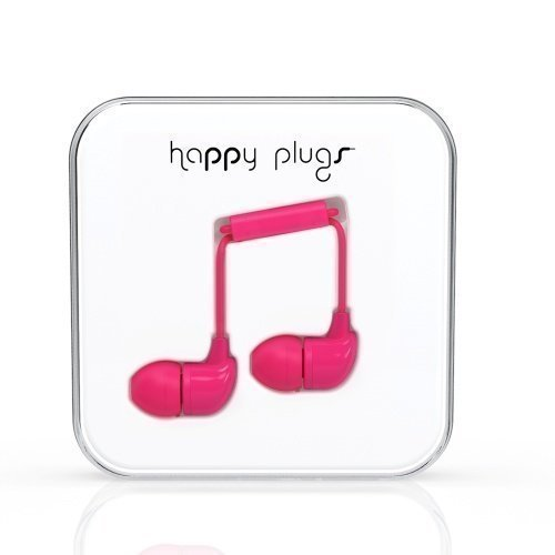 Happy Plugs In-Ear with Mic1 Cerise Pink