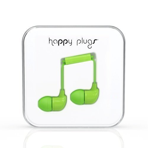 Happy Plugs In-Ear with Mic1 Green