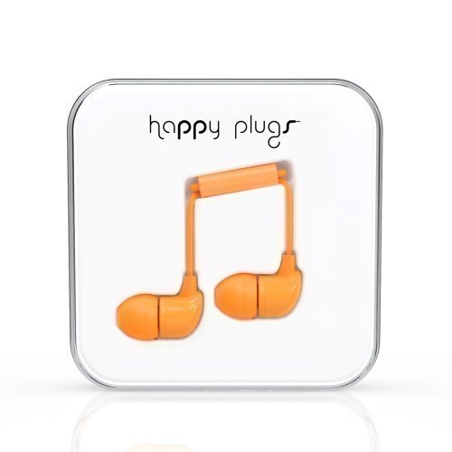 Happy Plugs In-Ear with Mic1 Orange