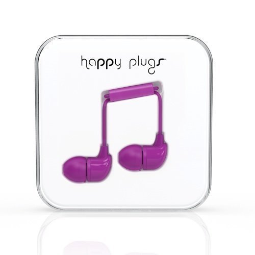 Happy Plugs In-Ear with Mic1 Purple