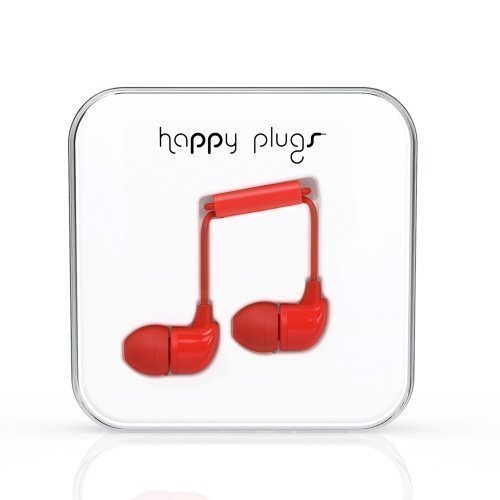 Happy Plugs In-Ear with Mic1 Red