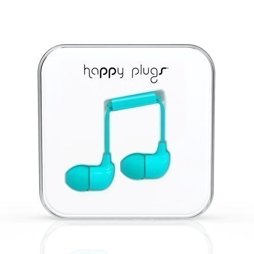 Happy Plugs In-Ear with Mic1 Turquiose Blue