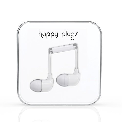 Happy Plugs In-Ear with Mic1 White