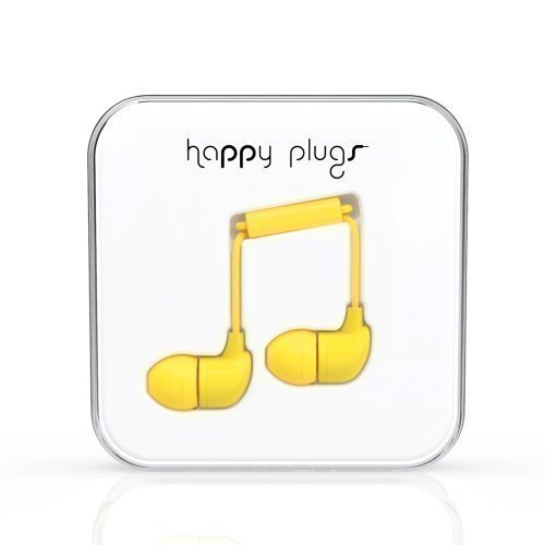 Happy Plugs In-Ear with Mic1 Yellow