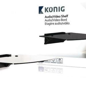 Hylly audio-/videolaitteille karkaistu lasi - 10 kg / 22 lbs