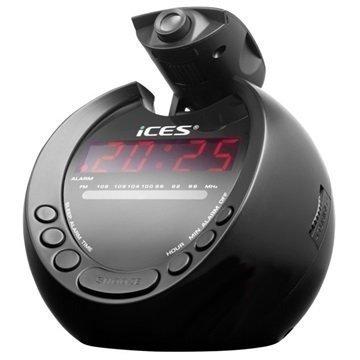 Ices ICRP-212 Herätyskelloradio Musta