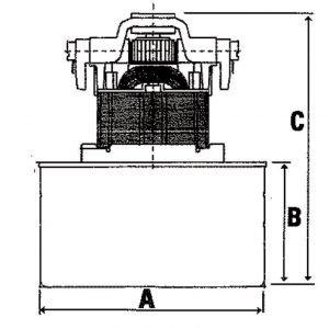 Imurinmoottori märkä/kuiva