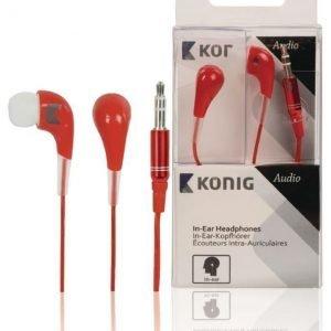 In-ear-kuulokkeet punaiset