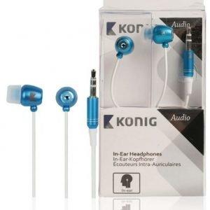 In-ear-kuulokkeet siniset