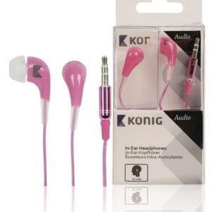 In-ear-kuulokkeet vaaleanpunaiset