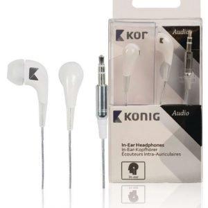 In-ear-kuulokkeet valkoiset