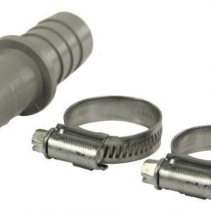 Jatkokappale + 2 letkukiinnikettä (16-27 mm) 19 x 19 mm