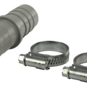 Jatkokappale + 2 letkukiinnikettä (16-27 mm) 22 x 22 mm