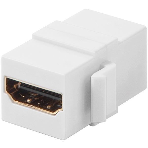 Jatkokappale keystone-asennukseen HDMI na-na valk