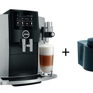Jura S8 Moonlight Silver Kahviautomaatti + Cool Control Maitojäähdytin