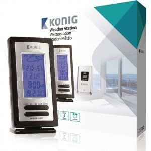 König weather station with wireless outdoor sensor and hygrometer