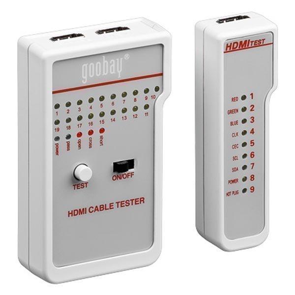 Kaapelitester HDMI-kaapeleille status LED paristo valkoinen