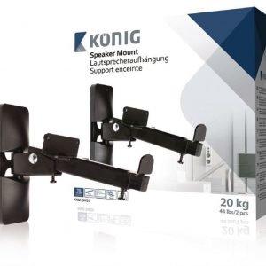 Kaiuttimen teline 2-in-1 20 kg / 44 lbs 2 kpl