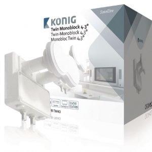 Kaksois-Monoblock 4 3° (0 2 dB Astra 19 2°E ja Astra 23 5°E) kahdelle TV:lle
