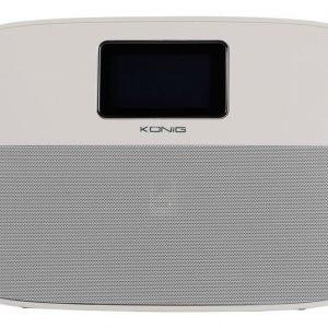 Kannettava Bluetooth-kaiutin ja herätyskello valkoinen