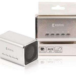 Kannettava MP3-kaiutin hopea