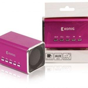 Kannettava MP3-kaiutin vaaleanpunainen