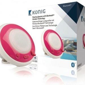 Kelluva Bluetooth-kaiutin vedenkestävä vaaleanpunainen