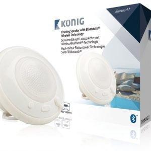 Kelluva Bluetooth-kaiutin vedenkestävä valkoinen