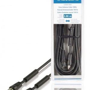 Koaksiaalinen antennikaapeli 100 dB koaksiaalinen uros - koaksiaalinen naaras 3 00 m musta