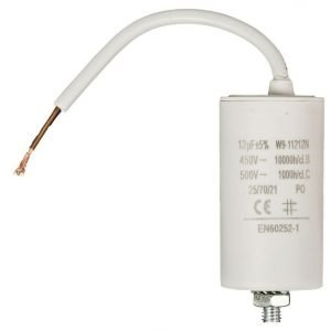Kondensaattori 12 uf / 450 V + johto