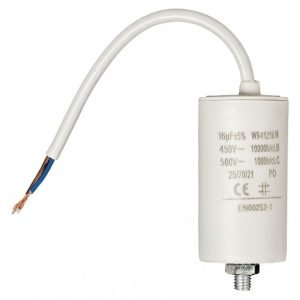 Kondensaattori 16 uf / 450 V + johto