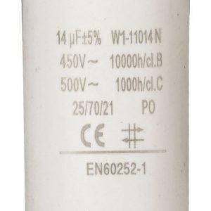 Kondensaattori14.0uf / 450 v + maa